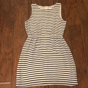 J. Crew 100% Silk Nautical Striped Dress 6